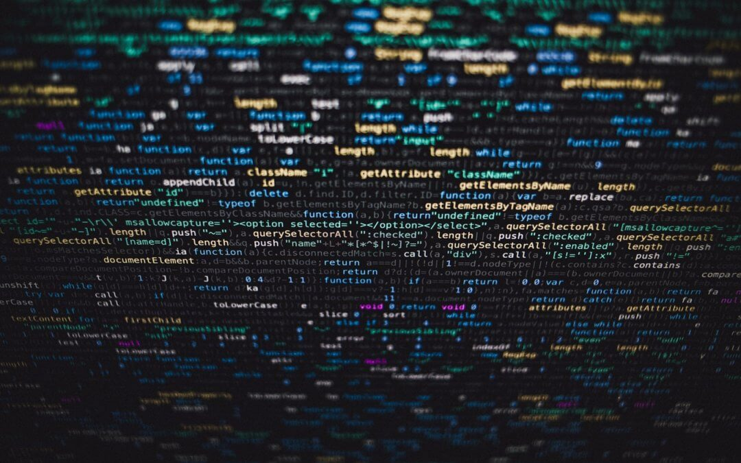 Code elements on a monitor.